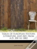 Tables Of European History, Literature, And Art, From A.D. 200 To 1882