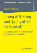 Taking Well-Being And Quality Of Life For Granted?