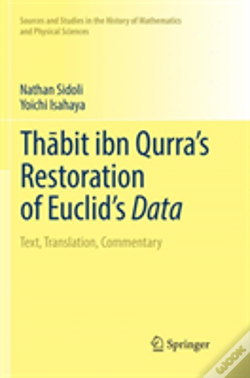 Wook.pt - Thabit Ibn Qurra'S Restoration Of Euclid'S Data