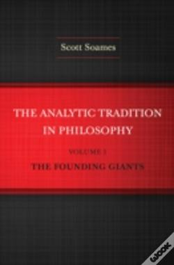 Wook.pt - The Analytic Tradition In Philosophy, Volume 1
