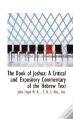 Wook.pt - The Book Of Joshua: A Critical And Expos