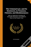 The Criminal Law, And Its Sentences, In Treasons, Felonies, And Misdemeanors