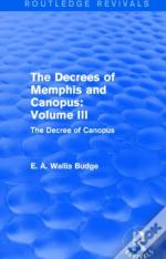 The Decrees Of Memphis And Canopus