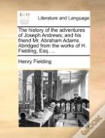 The History Of The Adventures Of Joseph