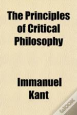 The Principles Of Critical Philosophy