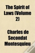 The Spirit Of Laws (Volume 2)