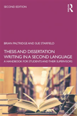 Phd thesis dissertation writing in a second language