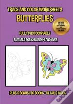 Trace And Color Worksheets (Butterflies)