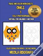 Trace And Color Worksheets (Owls 1)