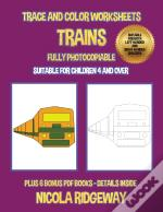 Trace And Color Worksheets (Trains)