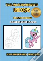 Trace And Color Worksheets (Unicorns)