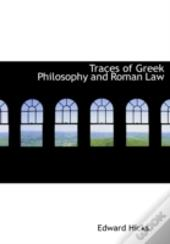 Traces Of Greek Philosophy And Roman Law