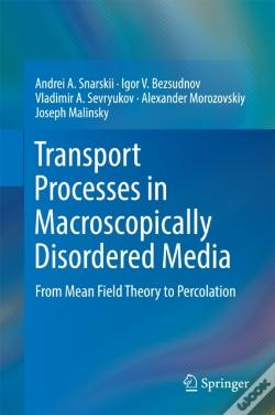 Wook.pt - Transport Processes In Macroscopically Disordered Media