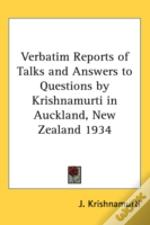 Verbatim Reports Of Talks And Answers To