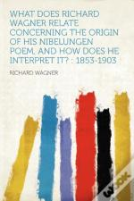 What Does Richard Wagner Relate Concerning The Origin Of His Nibelungen Poem, And How Does He Interpret It?