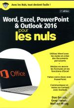 Word & Excel Powerpoint & Outlook 2016 Megapoche Pour Les Nuls 2ed