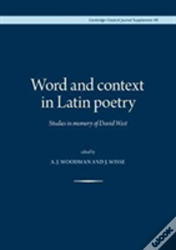 Wook.pt - Word And Context In Latin Poetry