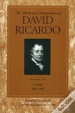 Works And Correspondence Of David Ricardoletters 1816-1818