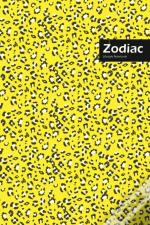 Zodiac Lifestyle, Animal Print, Write-In Notebook, Dotted Lines, Wide Ruled, Medium Size 6 X 9 Inch, 144 Pages (Yellow)